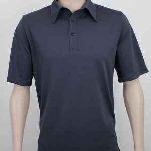 Pinhole Work Polo Charcoal By Loop Workwear NZ