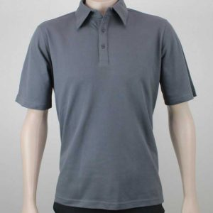 Pique Cotton Polo Charcoal By Loop Workwear NZ