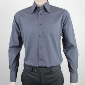 Jacob Corporate Shirt Charcoal By Loop Workwear NZ