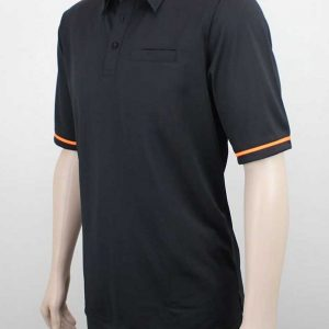 Karaka Workwear Polo Shirt Black Orange By Loop Workwear NZ