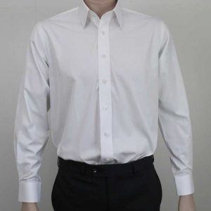 Bombay Egyptian Cotton Shirt White By Loop Workwear NZ