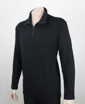 Wanaka Merino Sweat Shirt Black Front By Loop Workwear NZ