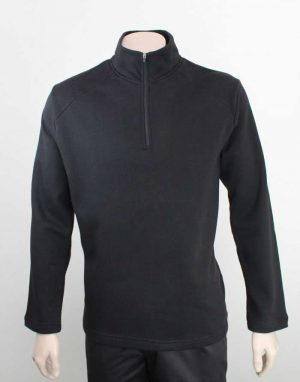 Wanaka Cotton Sweatshirt Front zipped up By Loop Workwear NZ