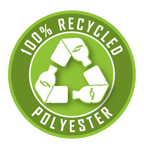 Sustainable Clothing from 100% Recycled Polyester green 3D