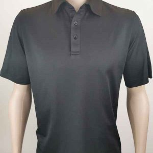 Bio Cotton Polo in Black colour By Loop Workwear NZ